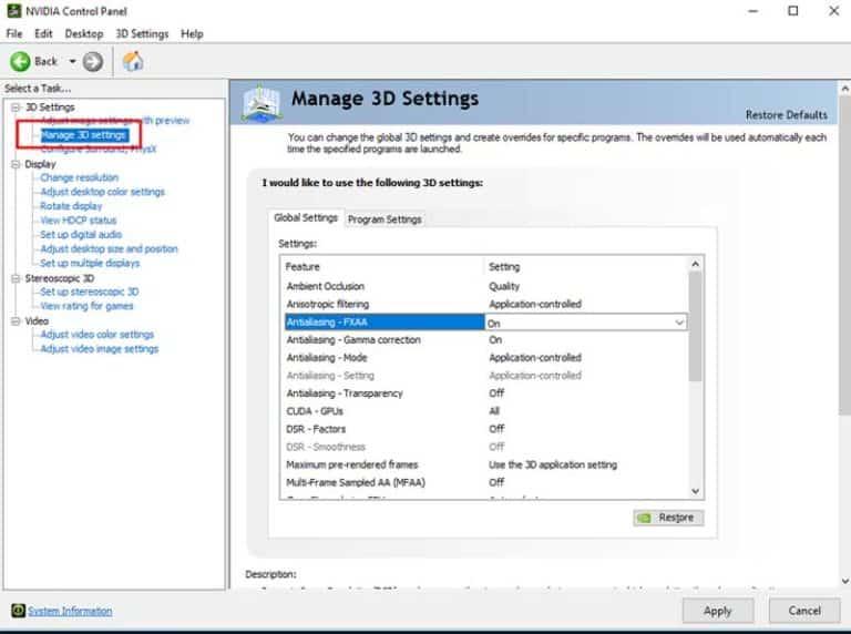 Tweak The NVIDIA Control Panel