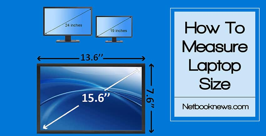 how to measure laptop size