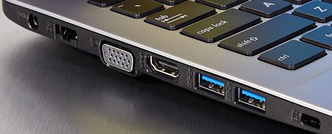 Asus X555DA ports