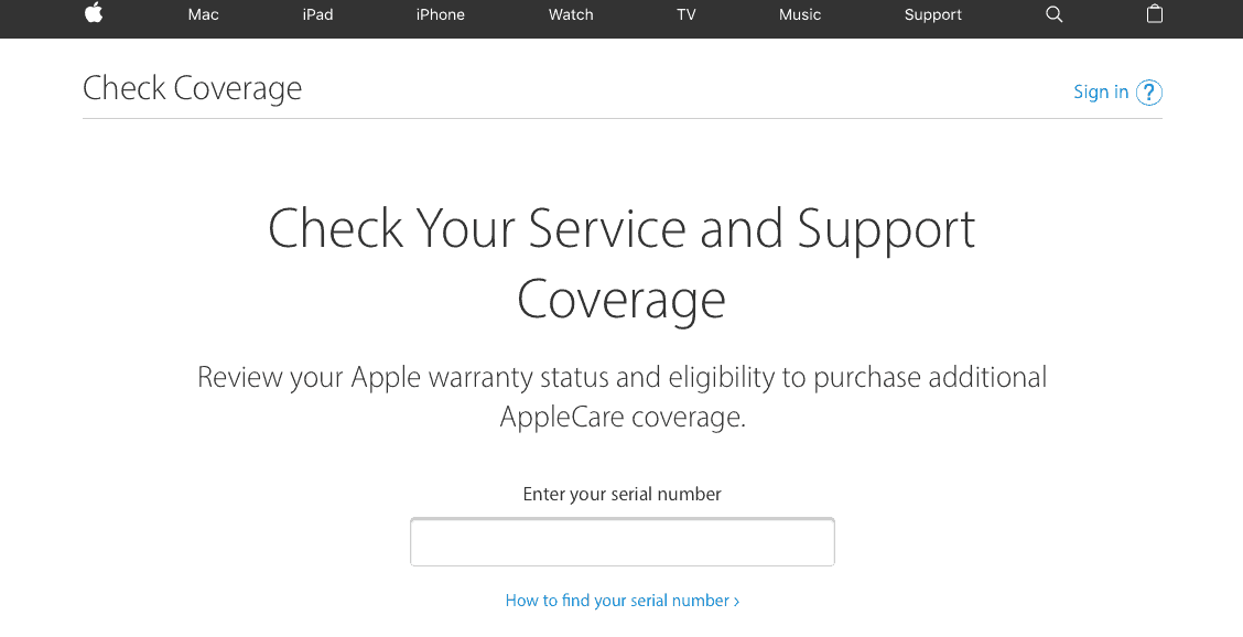 Check for Free Hardware Replacements covered by Apple Guarantee 127