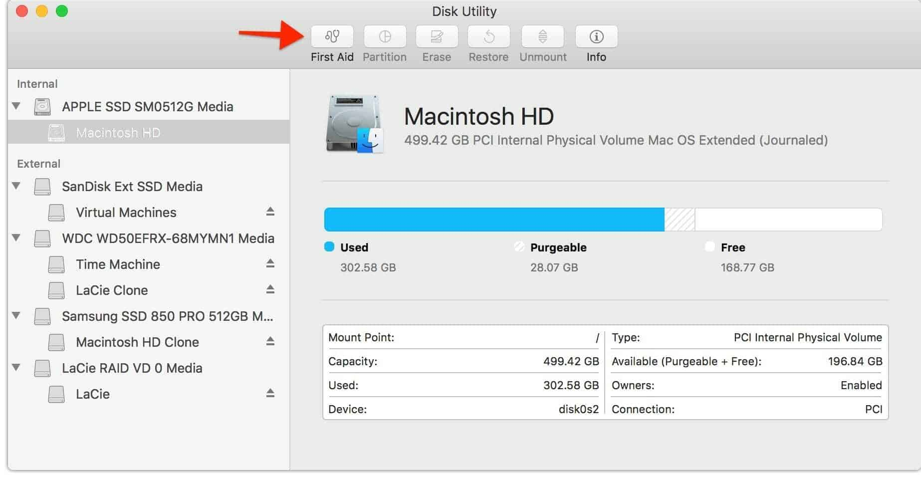 Run a Disk Utility First Aid Scan on Your Mac 131