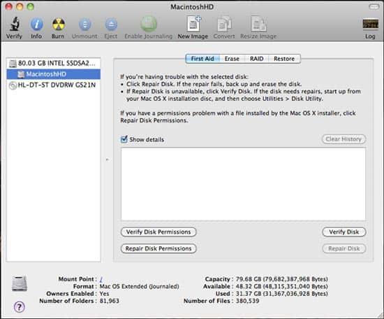 Set Disk Permission on Mac 141