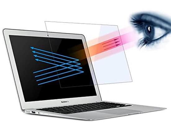 Macbook Air 13 Inch Screen Protector Maeco Anti Blue Light Protect Eyes Screen Protector Blocks Excessive Harmful Blue Light Reduce Eye Fatigue for Air 133 A 1