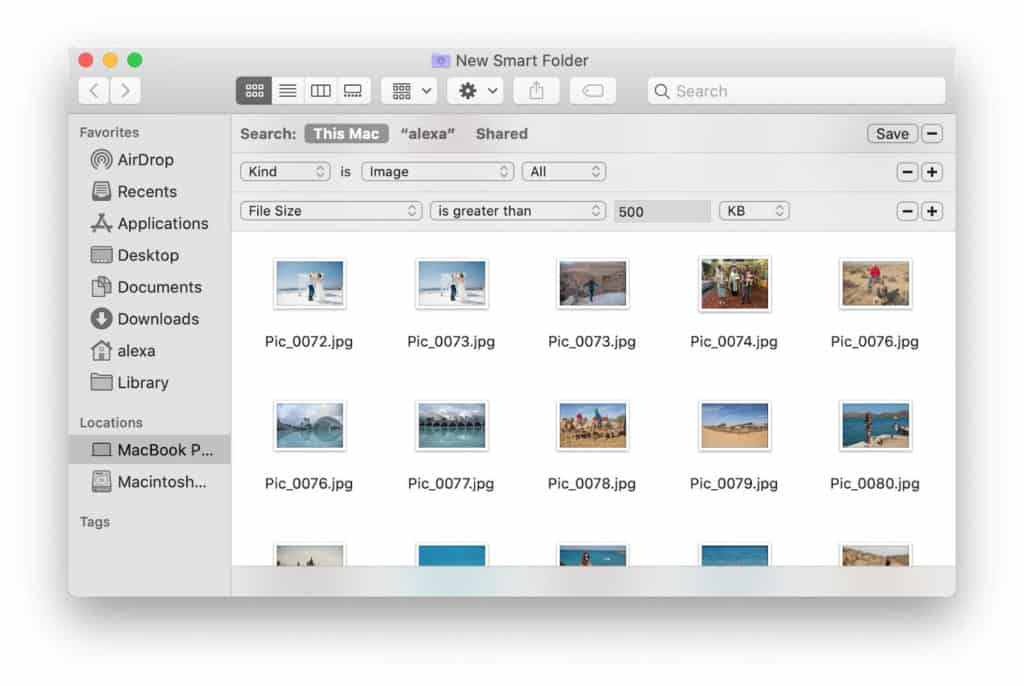Delete unneeded photos and finish.