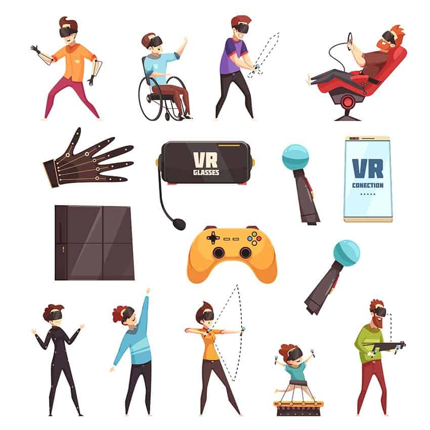 Virtual Reality VR Accessories Set