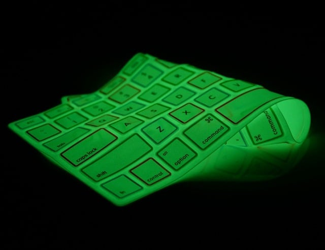 glow cover for laptop with backlit keyboard