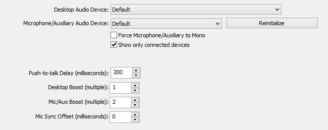 Configure Audio
